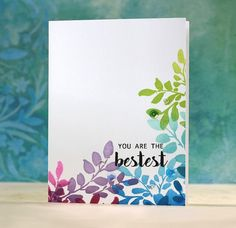 Simple yet stunning multi-colored card crafted by Laura. Learn about the Altenew products she used on this project on our blog. http://www.altenew.com