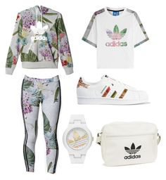 """Adidas⚜"" by anicute on Polyvore featuring adidas Originals, adidas, women's clothing, women, female, woman, misses and juniors"