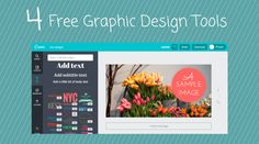 Free online design tools give those who aren't experienced designers the power to create visual content for blog posts and social media posts. These are four of our favorite free tools. Dive in and play!