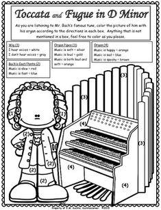 Bach's Toccata & Fugue D Minor-Listening Glyph (Art Music Lesson) - Spooky Music Music Lessons For Kids, Music Lesson Plans, Piano Lessons, Spooky Music, Mayan Symbols, Viking Symbols, Egyptian Symbols, Viking Runes, Ancient Symbols
