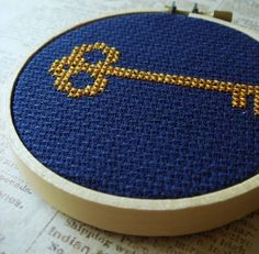 Key. Cross Stitch PDF Pattern. $2.50, via Etsy.
