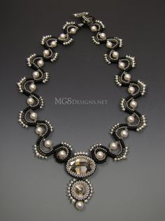 """Sinusoidal"" beadwoven necklace by MGS Designs"