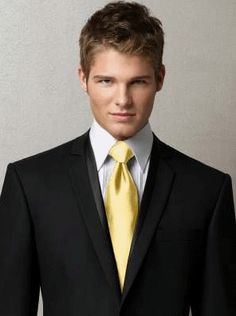 Buttercup Mens Ties by Dessy - Yellow Wedding Accessories $20.00 Brittney  Donnie color