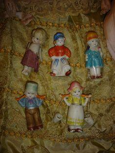 5 Bisque Japan Dolls