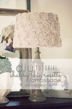 Simply Ciani: DIY:: Shabby Chic Rosette Lamp Shade