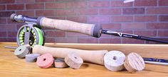 Want to make your own fly grip?   Check out our latest blog post to learn how!   http://blog.mudhole.com/4-steps-shape-custom-cork-grips/  #diy #fishing #custom #fly #flyfishing #build #fishingrod #bass #bassfishing #lathe #new  #blog