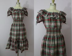 Hey, I found this really awesome Etsy listing at https://www.etsy.com/listing/157649693/vintage-40s-dress-1940s-plaid-dress-set