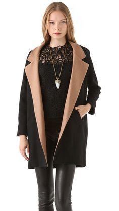 Heidi Merrick Jeffrey's Coat with Tan Collar (via ShopBop)