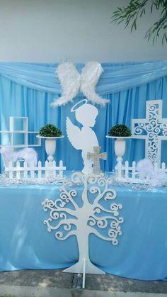Baptism Party, Baptism Favors, Boy Baptism, Christening, Baptism Centerpieces, Baptism Decorations, Baby Shower Decorations, Angel Baby Shower, Christian Crafts