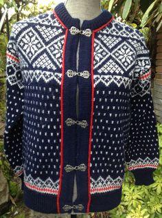Dale of Norway, Norwegian wool cardigan ski sweater-Size S