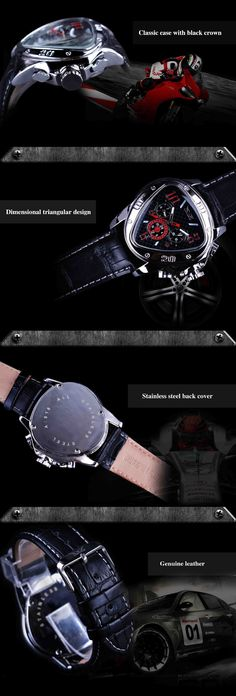 Top Mechanical Watches Men's Watches on AliExpress Kids Jewelry, Jewelry Supplies, Triangle Design, Digital Clocks, Wearable Device, Watches For Men, Men's Watches, Mechanical Watch, Think