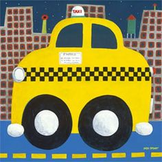 Taxi Cab Canvas Reproduction by Oopsy Daisy, Canvas Reproductions, Art for Boys