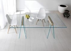 contemporary glass table KASTEEL by Moe Design Lab TONELLI Design