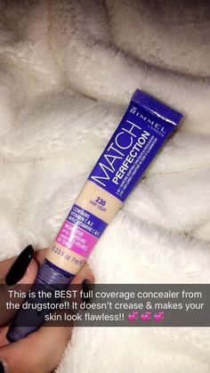 The BEST drugstore concealer! makeup Easy Skin… - Makeup Tips For Older Women Concealer Tips, Beste Concealer, Best Drugstore Concealer, Drugstore Makeup Products, Beauty Products, Drugstore Foundation, Drugstore Beauty, Drugstore Powder, Foundation Makeup