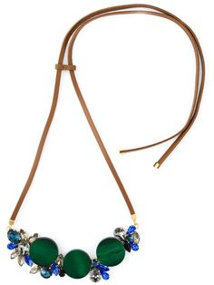 Marni contrasting panel necklace