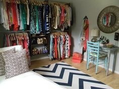 A small spare room to transformed into a huge walk-in-closet