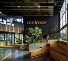 Bent Architecture's Melrose Health project involved the transformation of a mundane, unresponsive office building into the dynamic new headquarters for Melrose Health.