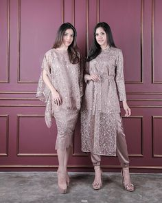 💕light brown💕 Right : amar (Price Left: riyyu (Price Fit t. 💕light brown💕 Right : amar (Price Left: riyyu (Price Fit to L 💕READY STOCK💕 Kebaya Modern Hijab, Dress Brokat Modern, Model Kebaya Modern, Kebaya Hijab, Kebaya Lace, Kebaya Dress, Dress Pesta, Dress Brokat Muslim, Dress Brukat