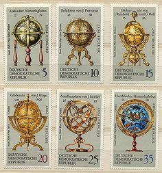 地球儀と天球儀/東ドイツ1972年 - パスピエ~外国切手、ビンテージの郵便切手のショップ