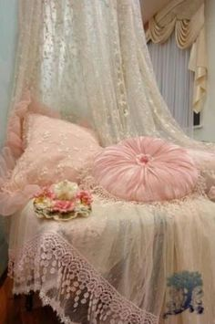 .Vintage Pillows.  The round one began in the 1940's I believe.  Brenda Dunlap