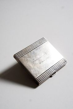 Silver cigarette case Sterling silver case Mens by FlorenceMercato