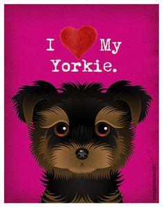 I+Love+My+Yorkie++I+Heart+My+Yorkie++I+Love+My+by+DogsIncorporated,+