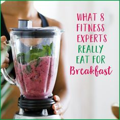 Ever wonder what fitness experts eat? We asked 8 fitness pros what they really eat to start their days, and their breakfast routines might surprise you.