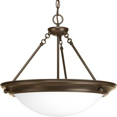 Progress Lighting Eclipse 19.375-in 3-Light Antique Bronze Empire Chandelier