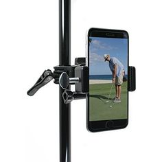 Golf Gadgets - Record your Putts on the Green From the Pin/Golf Flag Pole with This Universal Smartphone Mount. Compatible with any Phone, or GoPro Hero 4. (Black) >>> Click image for more details. (This is an affiliate link) #CarCradlesMounts