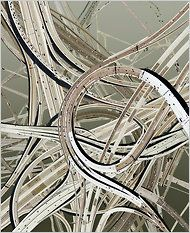 Collaged Highways by Hubert Blanz
