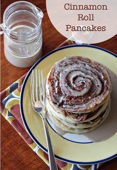 Cinnamon Roll Pancakes - Are you kidding me?!#Repin By:Pinterest++ for iPad#