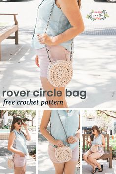 Crochet this easy rover circle bag with 1 skein of yarn in an afternoon! Free beginner friendly pattern that's so easy to make in a flash - #crochet #freepattern #bag #purse #crossbodybag #roverbag #rover #circlebag #forbeginners #pattern #easypattern #easy #free #pattern