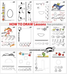 A Huge Collection of HOW TO DRAW Lessons- good extra time fillers