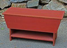 Primitive Storage Bench w/shelf