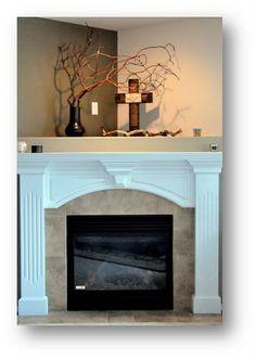 corner fireplace.