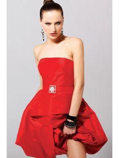 Taffeta Strapless Short Prom Dress