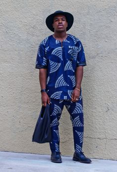 African mens fashion #blue