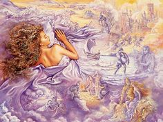 The Art of Dreaming | Lilac Dreams - Josephine Wall Fantasy Art Wallpaper 16 - Wallcoo.net