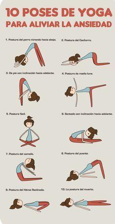 10 Poses de #Yoga para Vivir sin #Ansiedad