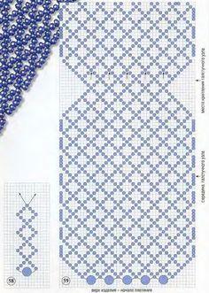 схема синего галстука из бисера