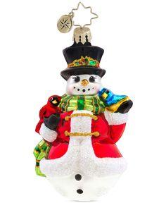 Christopher Radko Winter's Trill Gem Ornament