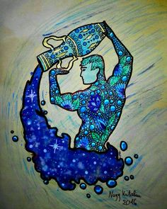 Aquarius ♒ First drawing of sings of the zodiac.