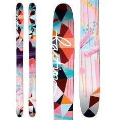 P I N T E R E S T: Kgsobott ✨ ❄️     -  Faction Heroine Skis for Women's 2017. I love the design on these skis. #ski #skiing #Skis