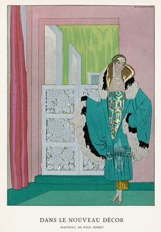 La Gazette du Bon Ton - Dans Le Nouveau Décor - Manteau de Paul Poiret - 1924-25