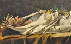 Gustave Courtois , Octave au tombeau d'Alexandre le Grand, 1878, détails sur Alexandre