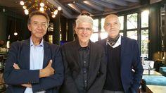 Marco Eugenio Di Giandomenico, Bill Fontana e Roberto Favaro  (Diana Majestic Sheraton Hotel, Milano, 8 settembre 2015)