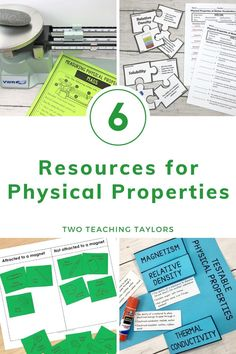 Physical Properties of Matter Activities Bundle Teaching 5th Grade, 5th Grade Science, Science Student, Elementary Science, Elementary Teacher, Upper Elementary, Elementary Schools, Matter Activities, Sorting Activities