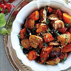 Roasted Root Vegetables With Thyme   Canadian Living