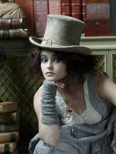 Mad Hatter - Helena Bonham Carter wearing Ewa i Walla Helena Bonham Carter, Helen Bonham, Helena Carter, Tim Burton, Dandy, Mad Hatter, Marla Singer, 3 4 Face, Johny Depp