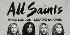 SOoo excited that All Saints have announced they will play O2 Brixton Academy on the 13th October 2016. Love these girls!